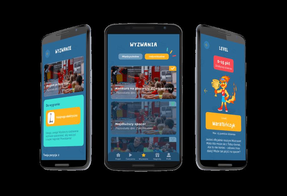 Pogląd mobilnej aplikacji